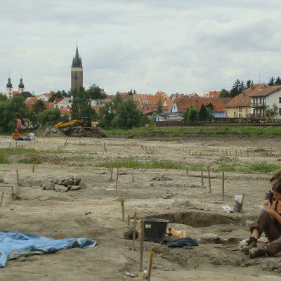 krásná archeoložka v Telči