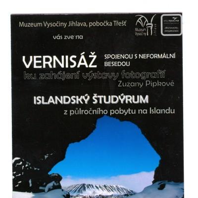 pozvánka na islandskou výstavu