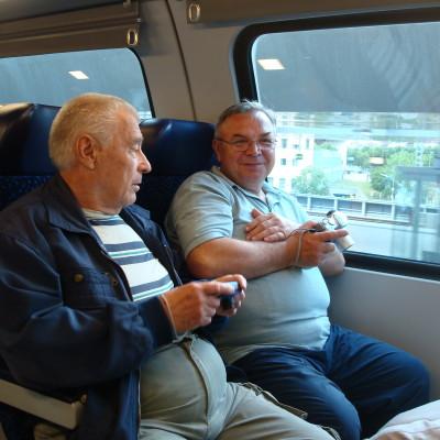 ve zpátečním vlaku