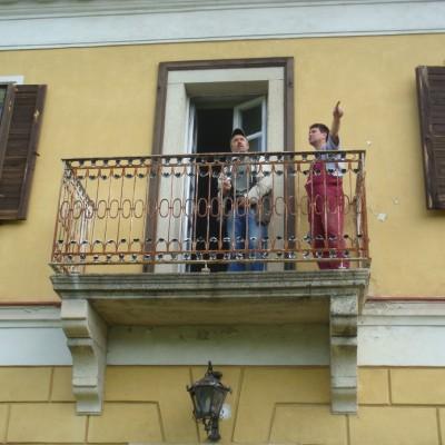 z balkonu zámečku je pěkný rozhled