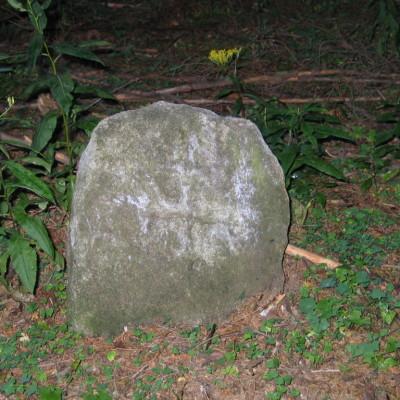 10 -. pamětní kámen v poušťských lesích