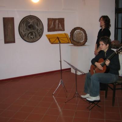 hudebníci při vernsáži
