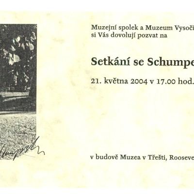 pozvánka na výstavu J.A. Schumpetera
