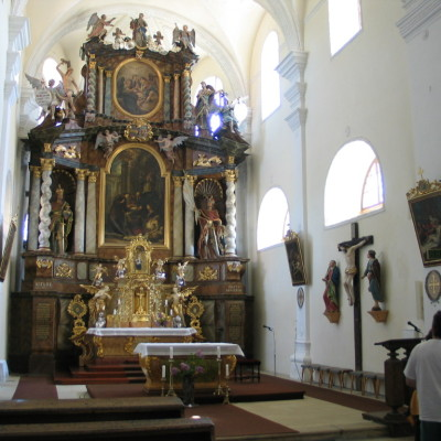 v klášterním kostele