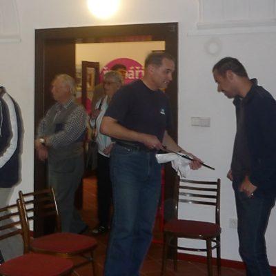 Radim Kapavík diskutuje s nvštěvníky