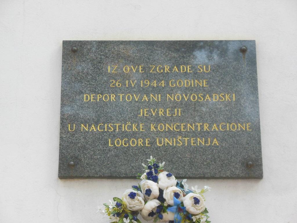 Pamětní deska obětem holokaustu