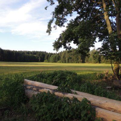 Výhled od chaty