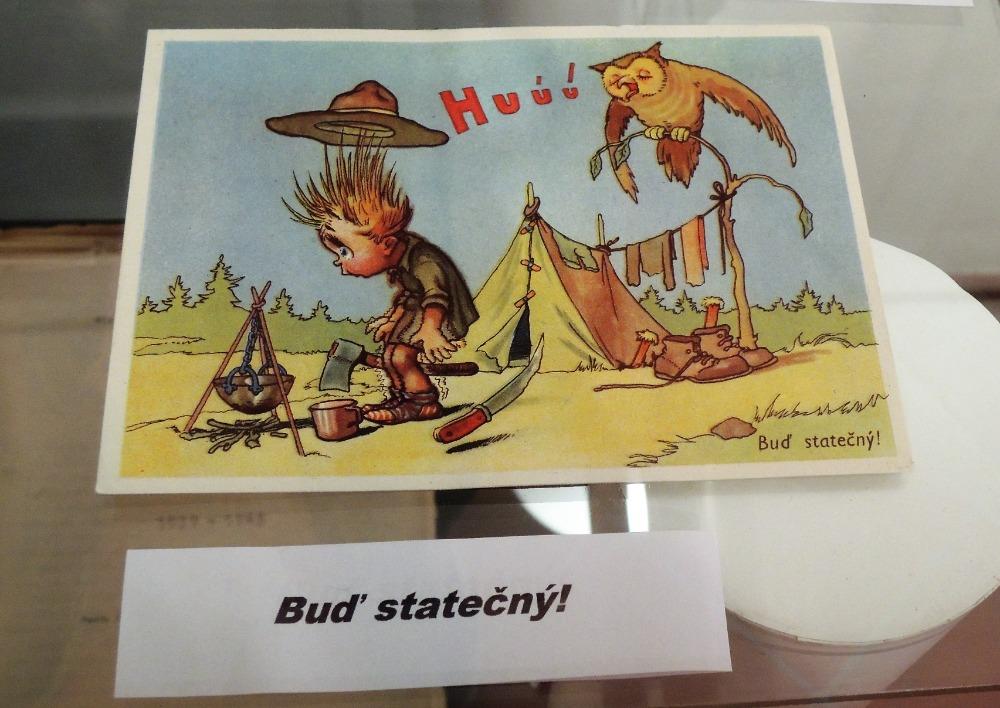Skautská pohlednice